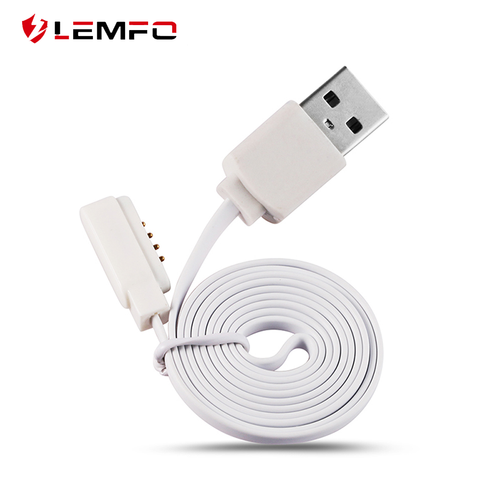 Lemfo Cable-Cord Charging-Cable Magnetic-Charger Smart-Watch KW18 LF07 Pogo 4-Pin Male