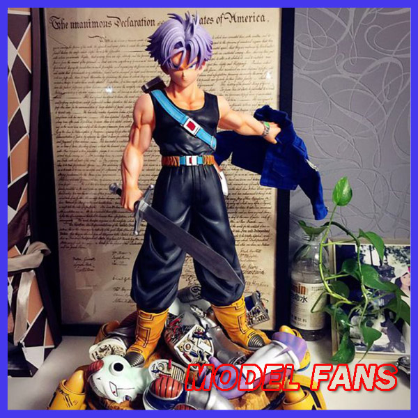 MODEL FANS Instock Dragon Ball Z 50cm Future Trunks Destruction Frieza gk resin statue contain led light figure for Collection model fans in stock dragon ball z 35cm super saiyangoku and time house gk resin statue figure for collection