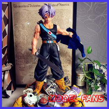 MODEL FANS Instock Dragon Ball Z 50cm Future Trunks Destruction Frieza gk resin statue contain led light figure for Collection