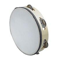 HOT 8X 8 Musical Tambourine Tamborine Drum Round Percussion Gift For KTV Party