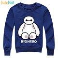 Jiuhehall 3-7 Ages Children Robot Print Hoodies Boys Girls O-Neck Active Pullovers Long Sleeve Kids Cartoon Tops HCM078