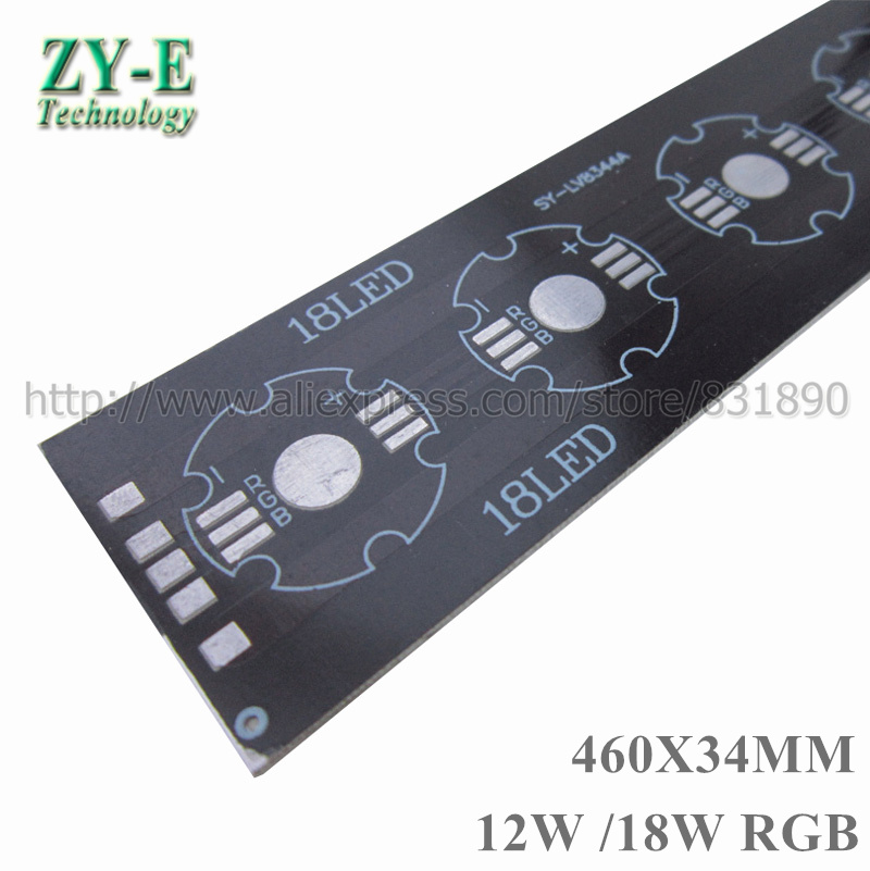 20 pcs/lot LED Bar Strip PCB Aluminum baord plate 9W/12W 460*34mm pcb for 1W 3W Tube light floodlight Ceiling light replace DIY