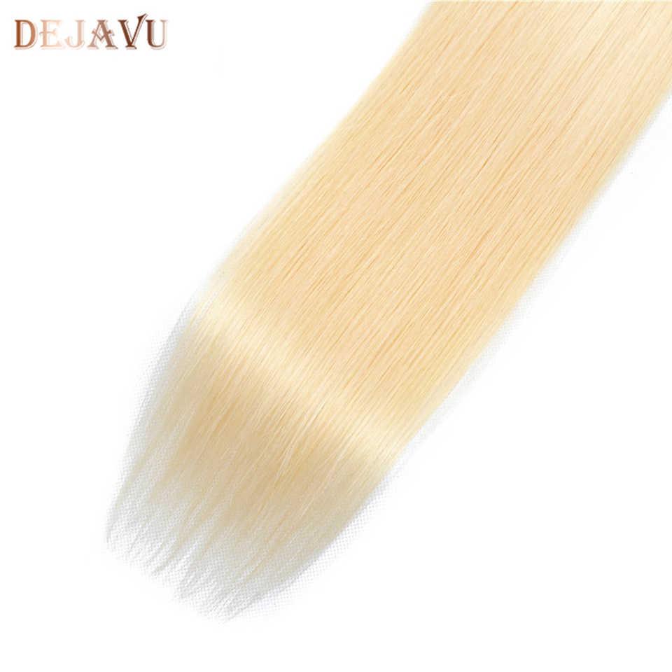 Dejabu 613 recta 4*4 Cierre de encaje Malasia Cierre de cabello humano parte media/libre Remy con pelo de bebé extensión 10-30 pulgadas