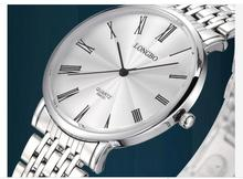 Longbo luxe résistant à l'eau classique facile à lire sport montre – bracelet homme, Livraison gratuite Top qualité homme plein acier montre 8860D