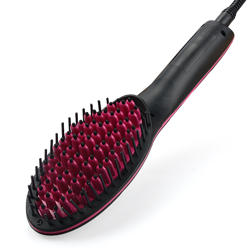 CSW Straight hair comb Hair Straightener Brush Electric iron Straightening hair Ceramic digital display Perm comb Curling Tool csw chargeable straight hair curlers dual use straightening hair rolling perm electric hairbrush hair iron stick curling comb eu