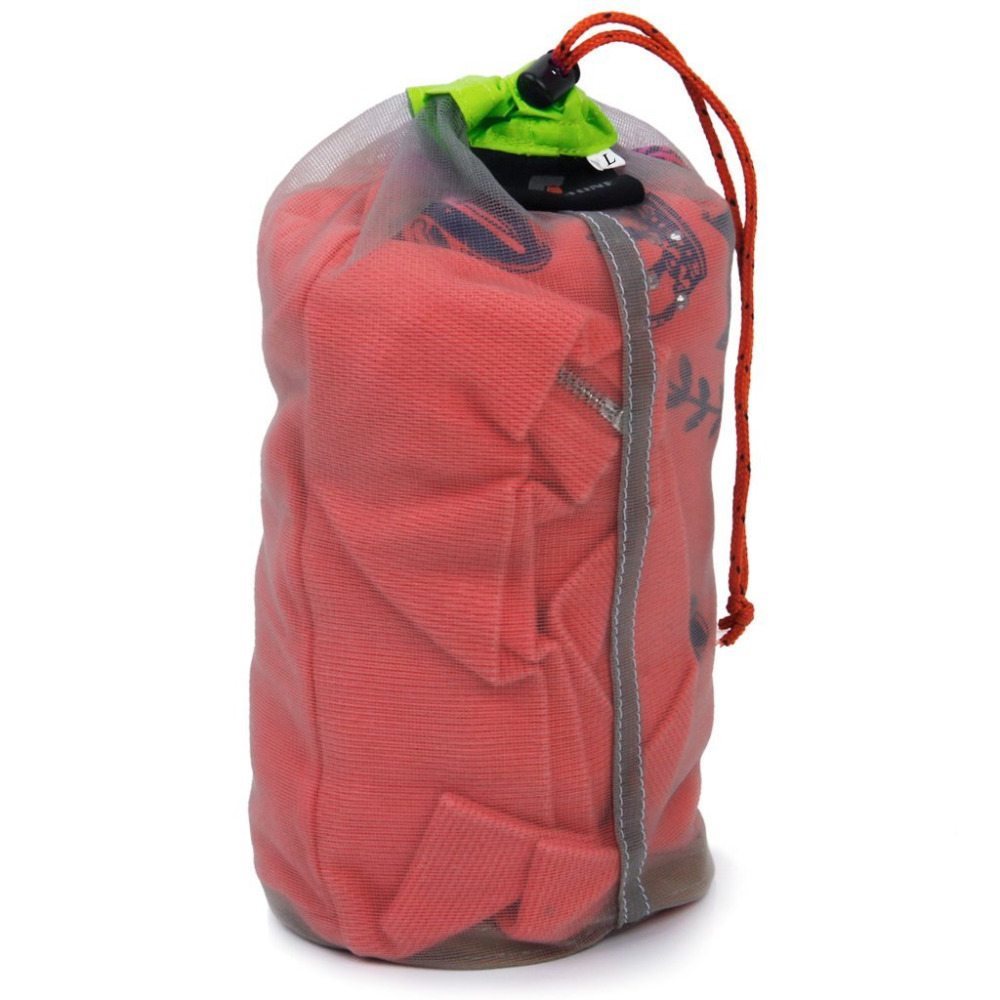 New Arrivals 2015 Ultra Light Mesh Stuff Sack Storage Bag for Tavel Camping Outdoor Travel Bag 34*15cm