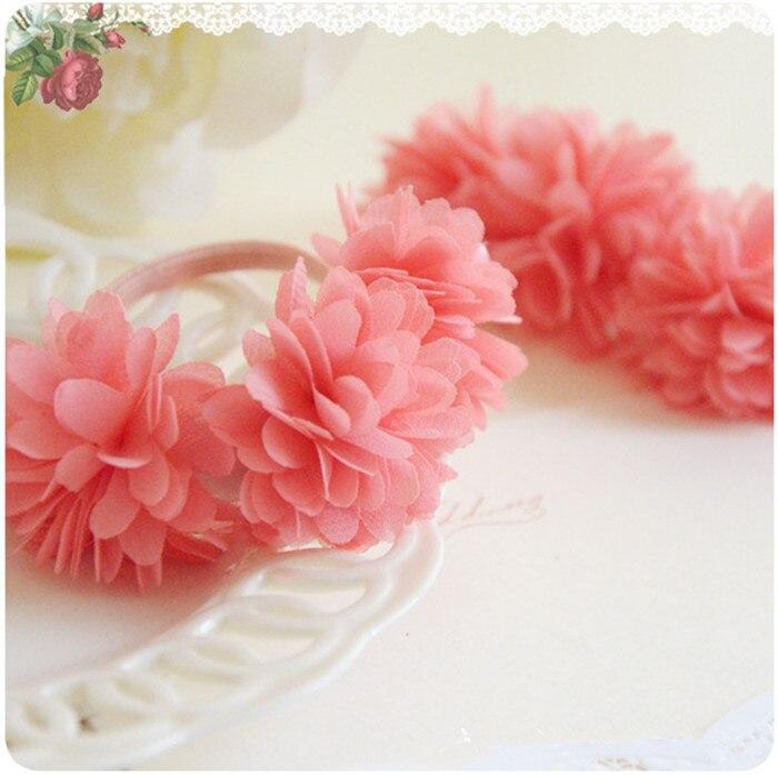 Multi-layer Flower Elastic Hair Bands Hair Clips Girls Kids Hair Accessories