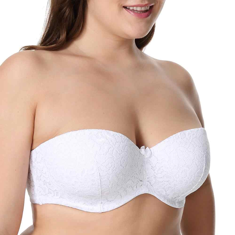 f730dfe74ced ... Smooth Multi-way Bandeau-style Strapless Silicone Strips Bra with  Underwire ...