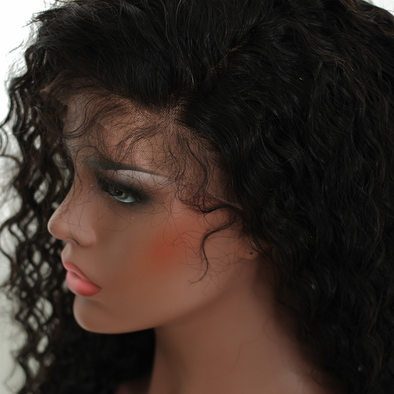 Lace Front Human Hair Wigs For Women Natural Black Pre Plucked 250% Density Brazilian Pictured 24inches 7