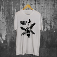 Custom T Shirts Online Short O Neck Christmas Linkin Park Hybrid Theory White Shirt For Men