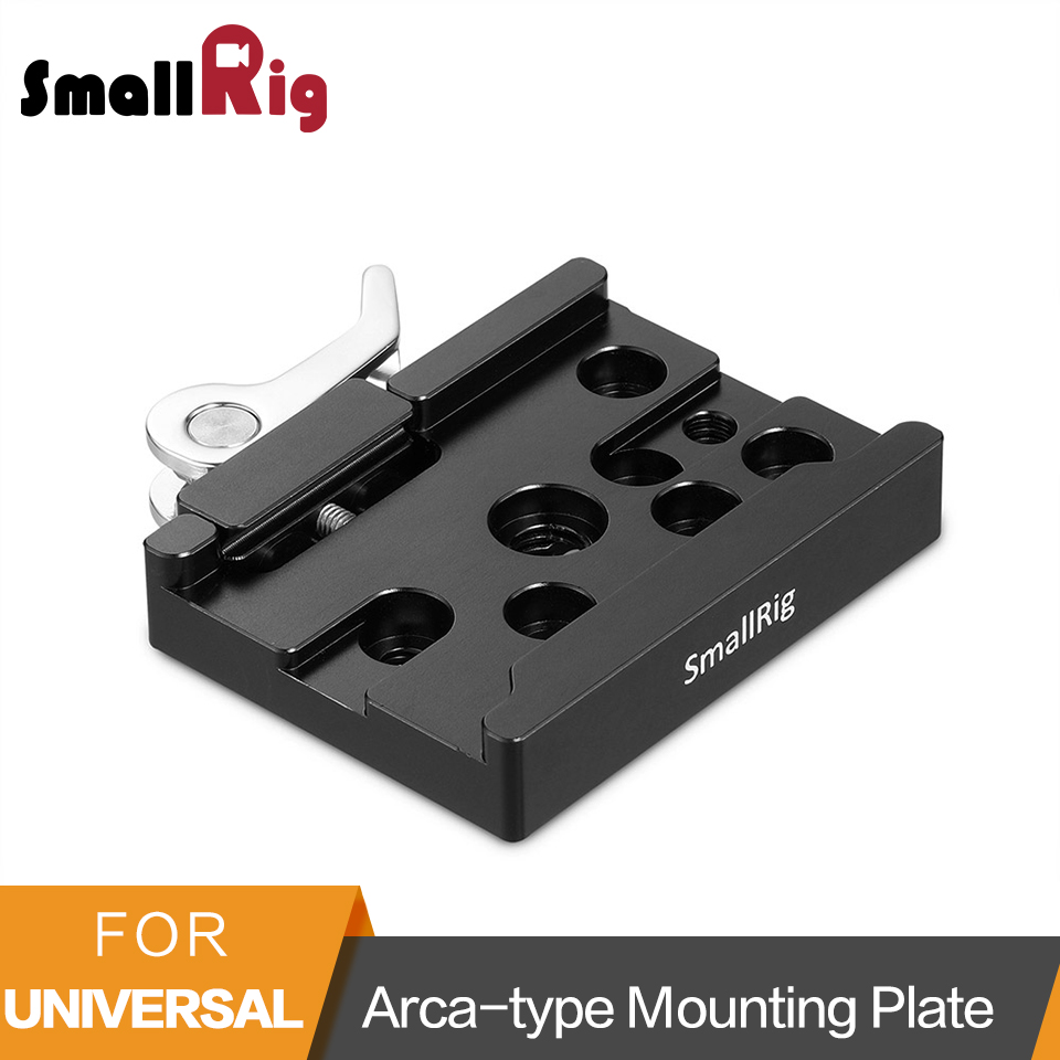 лучшая цена SmallRig Arca-type Camera Mounting Plate Tripod Mounting Arca Plate for Tripods/ Dslr Cage Quick Release Clamp -2143