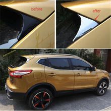 цена на Lapetus Exterior For Nissan Qashqai J11 2014 2015 2016 2017 2018 2019 2020 ABS Chrome Rear Triangle Spoiler Wing Cover Trim Kit
