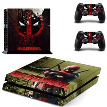 DeadPool Vinyl PS4 Skin Sticker Decal Cover for PS4 Playstation 4 System Console and Controllers Cover Stickers