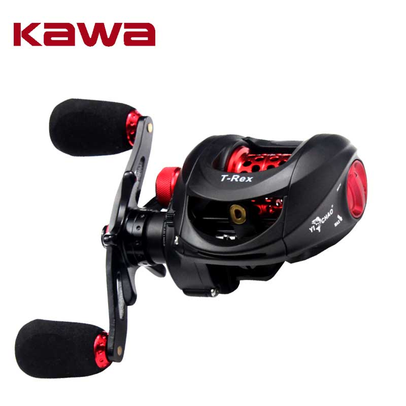 Kawa Bait Casting Fishing Reel Gear Ratio 6.5:1 Bait casting Reel Magnetic Brake Bearing 6+1 Eva Knob 175g Max Drag 4.5KG trulinoya full metal body baitcasting reel 7 0 1 10bb carbon fiber double brake bait casting fishing reel max drag 7kg