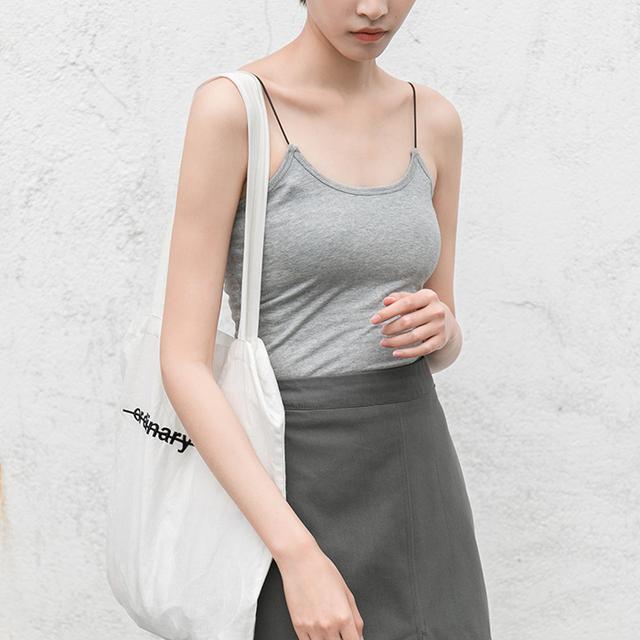 En la primavera de 2017 nuevo chaleco femenino camisa sin mangas en un párrafo corto cultivar la camisa Camisola blanca