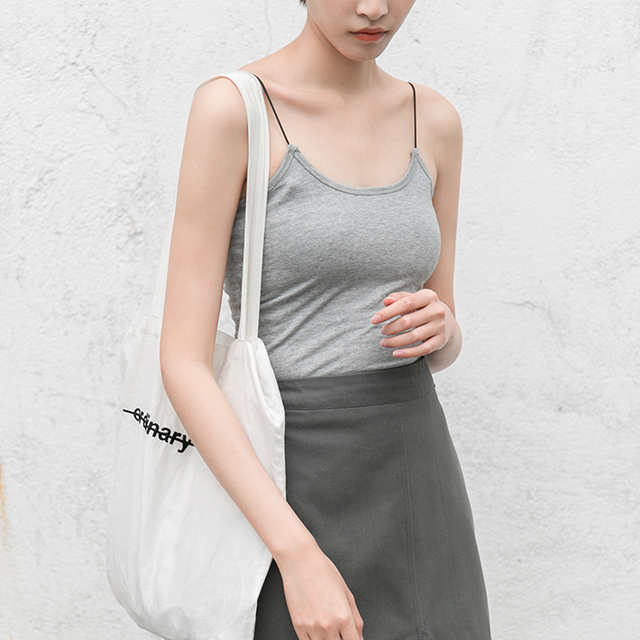 Na primavera de 2017 novo colete feminino camisa sem mangas em um parágrafo curto para cultivar a camisa Camisola branca