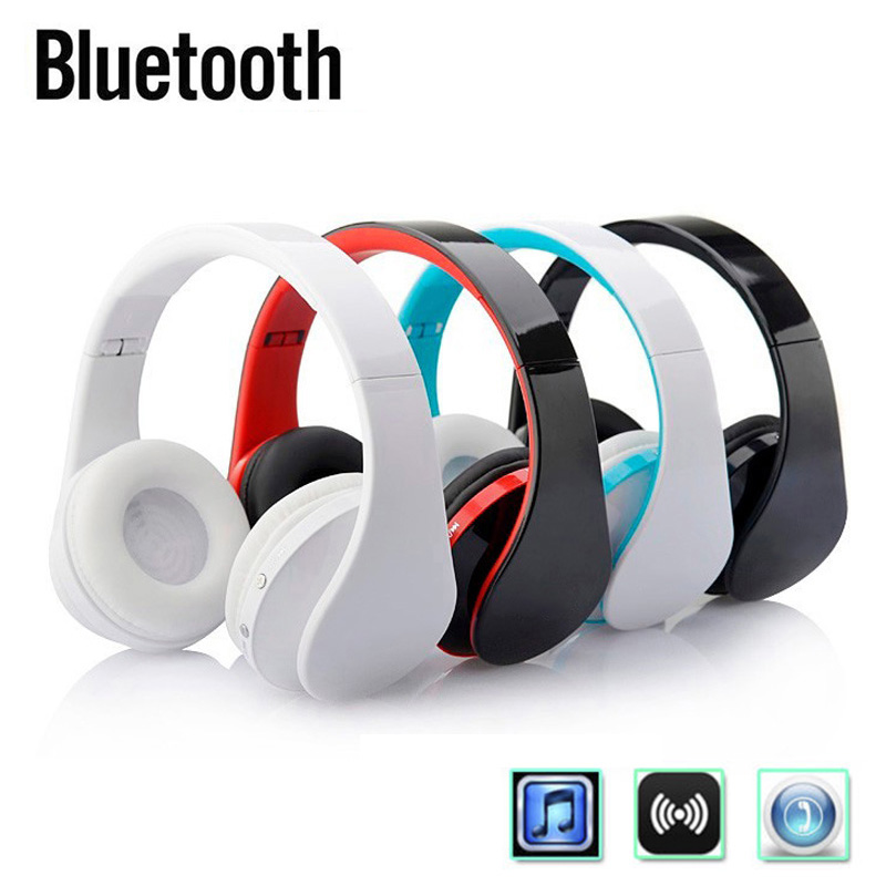 New Bluetooth Wireless Folding Headset Headphones Music Stereo Sports Game with Mic for Smart Phones Laptop PC 2017 scomas i7 mini bluetooth earbud wireless invisible headphones headset with mic stereo bluetooth earphone for iphone android
