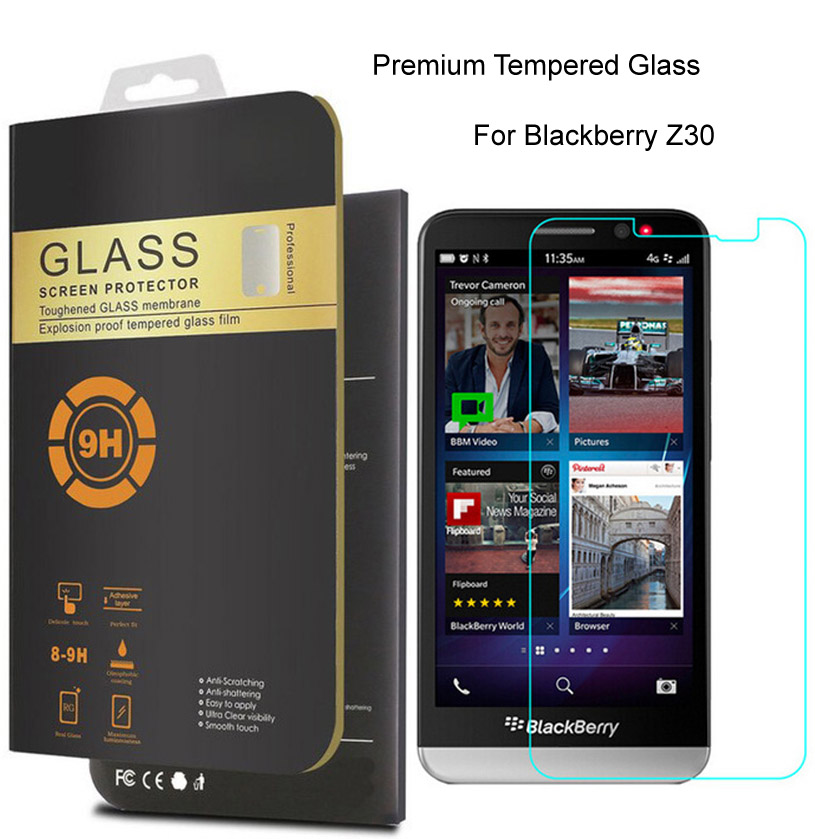 0 26mm Tempered Glass Film For Blackberry Z30 Z20 Z10 Q30 Q20 Q10 Q5 Front  LCD Screen Protector