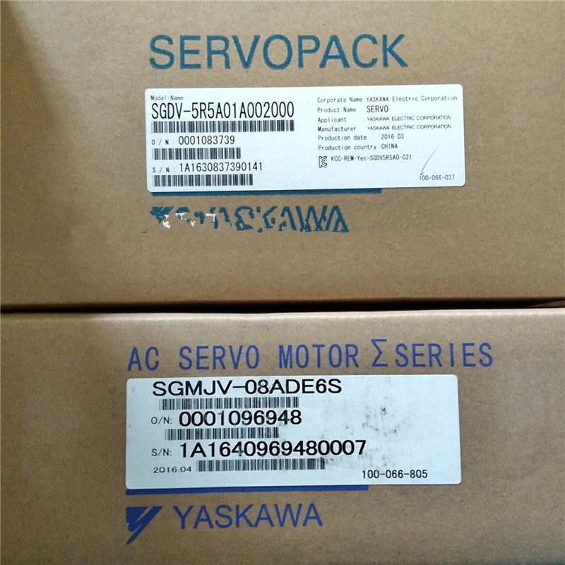 SGMJV-08ADE6S+SGDV-5R5A01A 750w 3000rpm 2.39N.m 80mm frame sigma-5 AC servo motor drive kits with 3m power and encoder cable mitsubishi 100% mds r v1 80 mds r v1 80