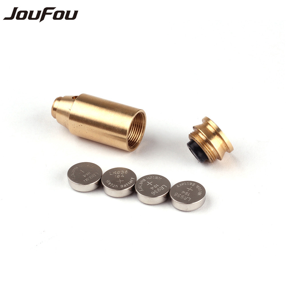 JouFou Tactical Accessories CAL 45 Cartridge Calibration Instrument Red Laser Boresighter Collimator for font b Hunting