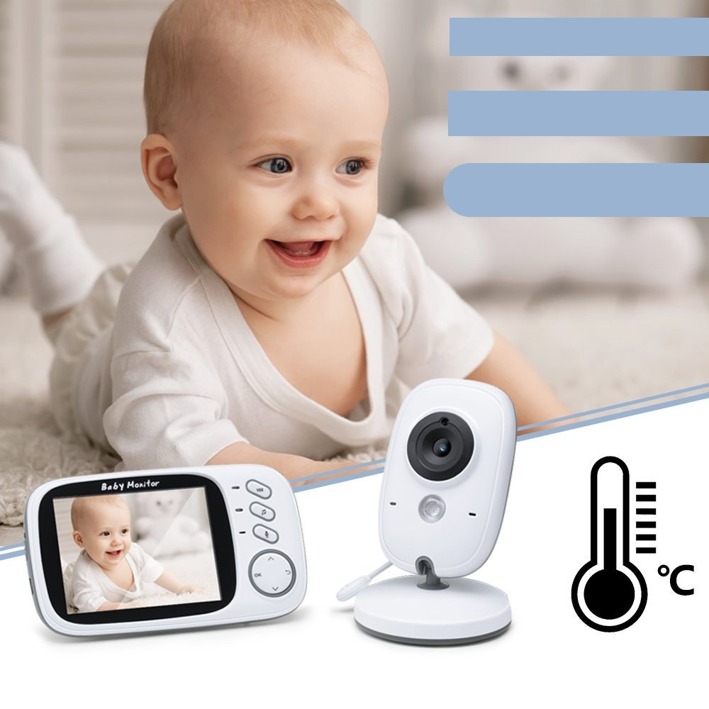 babykam baby monitor for newborns video nanny 3.2 inch LCD IR Night Vision Intercom Temperature Monitor Lullabies baby monitors