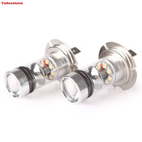 2Pcs Good HID White High Power 20 Cree Chip 100W H7 Foglight Low Beam Fog Lamp