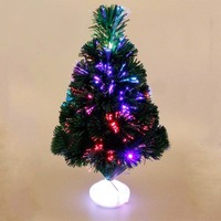 45cm Optical Fiber Color Light Emulate Christmas Tree LED Luminous Color Changing LED Artificial Xmas Tree