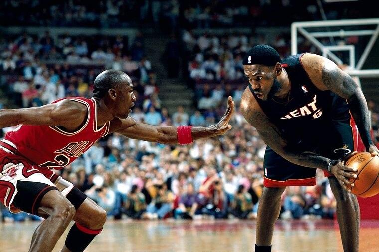 ᗜ LjഃDIY marco Michael Jordan MJ 23 VS LeBron LBJ 23 baloncesto ...