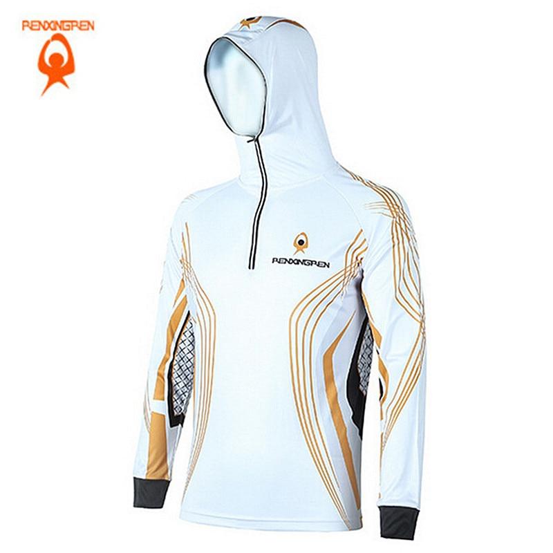 Man font b Hiking b font climbing badminton fishing Anti UV Breathable Quick drying Clothes Professional