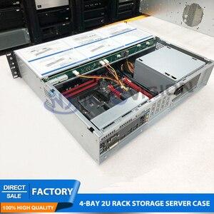 Image 5 - Flexível ultra curto 2u caso l = 400mm enorme armazenamento 4 baías hotswap 2u rack servidor chassi para firewall/nvr