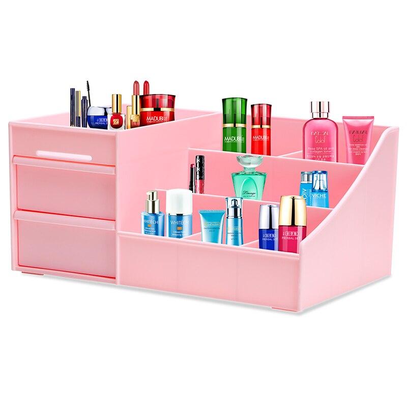 Cosmetic drawer storage box Large desktop storage box plastic storage box