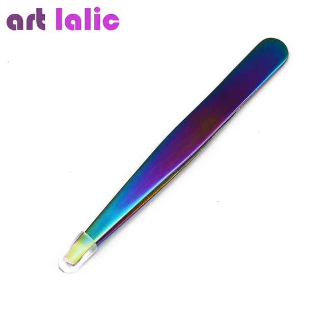 1PC Angled Slanted Eyebrow Tweezers Stainless Steel Face Hair Removal Eye Brow Trimmer Eyelash Clip Cosmetic Beauty Makeup Tool 1