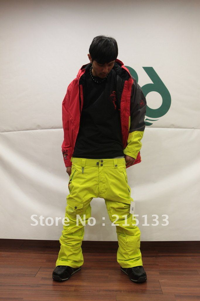 New Mens 686 10K Yellow Mannual Original Cargo SKi Snowboarding Pants L In From Sports Entertainment On Aliexpress