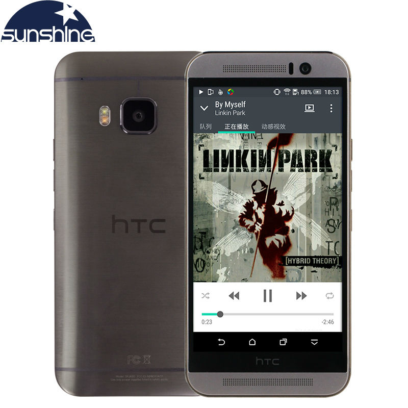 Original Unlocked HTC One M9 Mobile Phone LTE 1920 1080 Android Phone Octa Core 3GB RAM