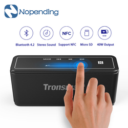 جديد الأصلي Tronsmart عنصر ميجا بلوتوث 5.0 مكبر صوت لاسلكي متحرك ثلاثية الأبعاد الصوت الرقمي TWS 40 واط NFC ل IOS أندرويد