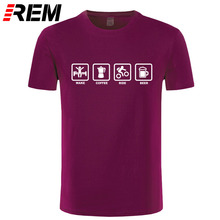 Wake, Coffee, Rider, Beer men's t-shirt / 15 Colors