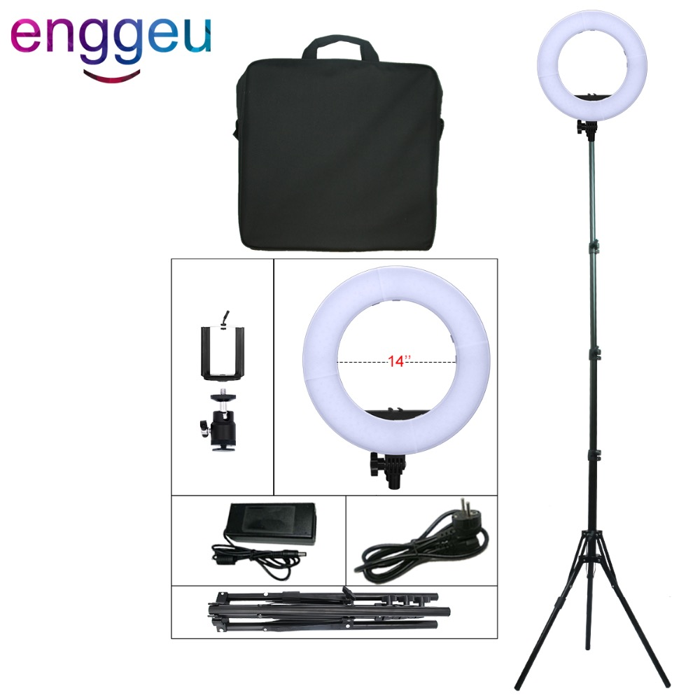 Camera Photo Studio Phone Video 45W 180PCS LED Ring Light 3000/5500K Bicolor 14 Photography Dimmable Makeup selfie annular lamp fotopal 55w 5500k daylight led ring light lamp for photography camera phone video photo make up selfie light annular lamp