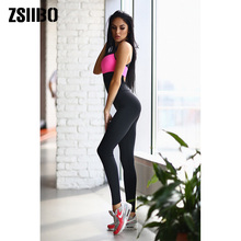 Fitness Workout Pants Sports-Suit Jogging Plus-Size Women Spring Sexy-Set High-Waist