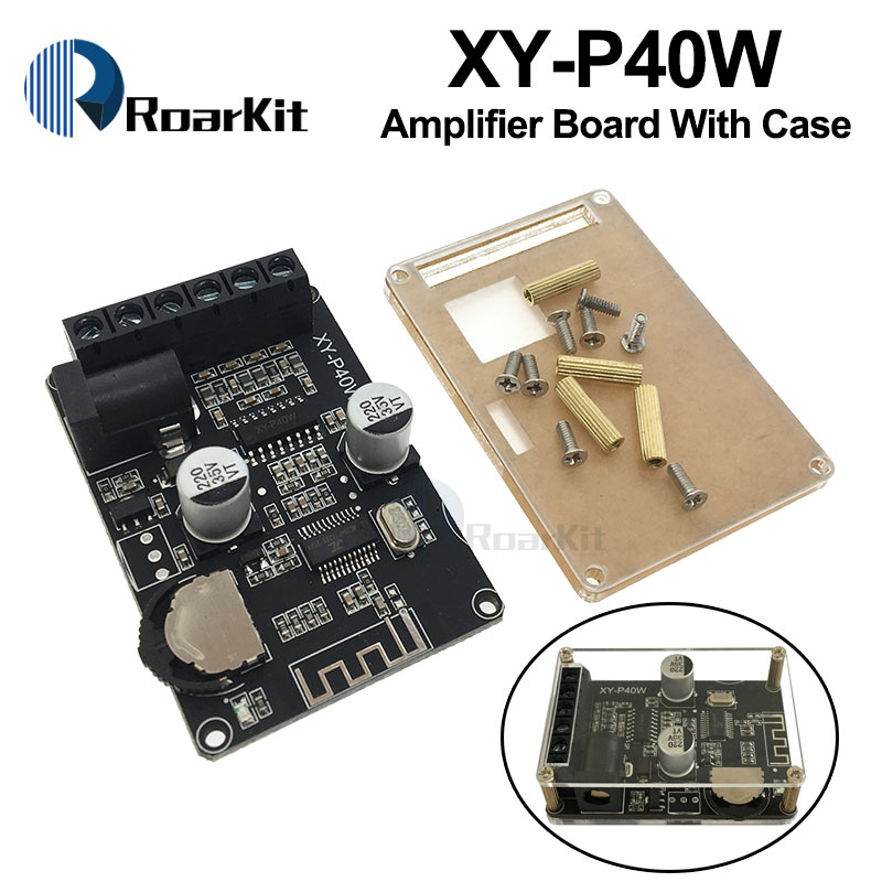 Placa de Amplificador de Potência Dual-Channel Stereo Bluetooth 12V 24V 10W 15W 20W 30W 40W Módulo Receptor Bluetooth para Kit DIY