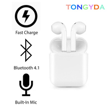 Wireless TWS I8 Bluetooth Earphone Stereo Earbud Sport Cordless Headset With Charging Box Mic For Iphone Xiaomi All Smart Phone