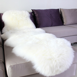 Sheepskin rug chair cover pad carpet plain skin fur fluffy area rugs for bedroom faux fur.jpg 250x250
