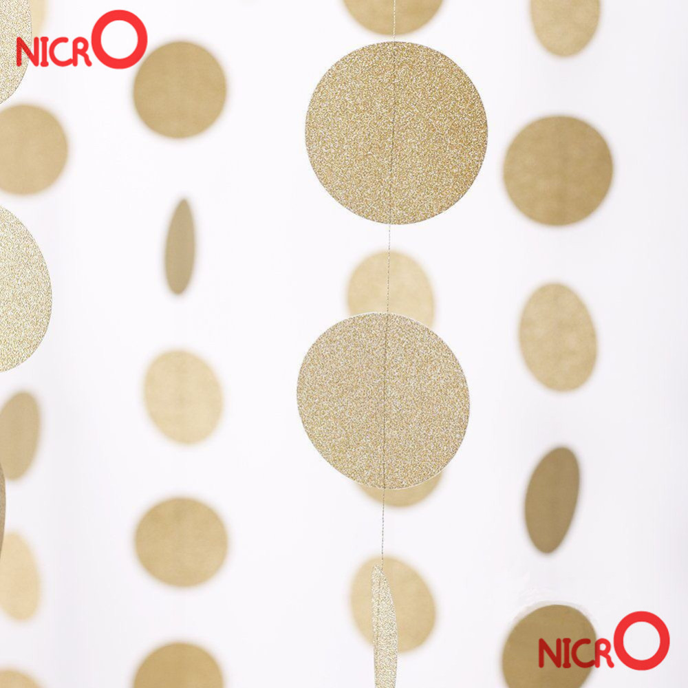 Gold Birthday Decorations Popular Gold Garland Buy Cheap Gold Garland Lots From China Gold