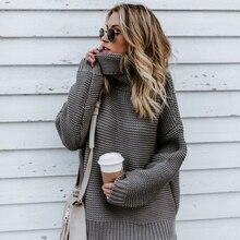 Осенне-зимние свитера, однотонные, большие, плотные, свободные, модные, качественные, офисные, женские, водолазки, tmperadium, Переплетенные свитера