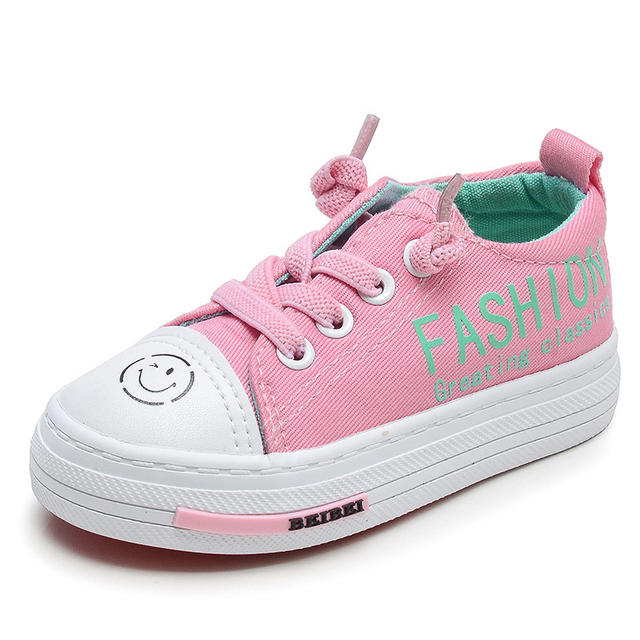 Kids Girls Canvas Shoes Children Boys Tenis Shoes Students Casual Smile  Breathable Classic Style Sneakers Children Shoes Girls 665cf91d9c1d