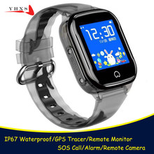 IP67 Waterproof Smart GPS Location Remote Camera SOS Call Monitor Wristwatch Finder Tracker Phone Watch for Kids Child Student(China)