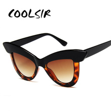COOLSIR Oversized Cat Eye Sunglasses Women Fashion Retro Butterfly Sunglass Brand Designer 90s Ladies Goggle UV400