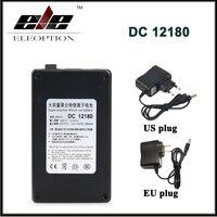 DC12180 DC 12 V 1800 mAh Súper Batería de Polímero de litio-ion Recargable Portátil para la Cámara de CCTV Transmisor con Enchufe negro