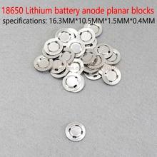 18650 lithium battery cathode welding flat lithium battery anode blocks 18650 flat cap battery accessories flat