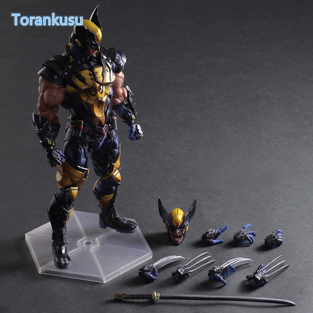 Wolverine Action Figure Playarts Kai LOGAN X-MEN PVC Model Toy Anime Movie Play Arts Kai Wolverine James LOGAN Figure PA06 kingdom hearts play arts kai roxas sora pvc action figure toy 26cm movie game anime kingdom hearts ii playarts kai