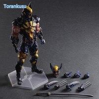 Wolverine Action Figure Playarts Kai LOGAN X MEN PVC Model Toy Anime Movie Play Arts Kai